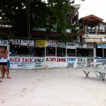 Kleine Bars am Haad Rin Beach