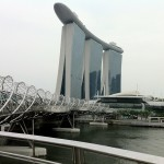 Marina Bay Sands und die Millenium Bridge